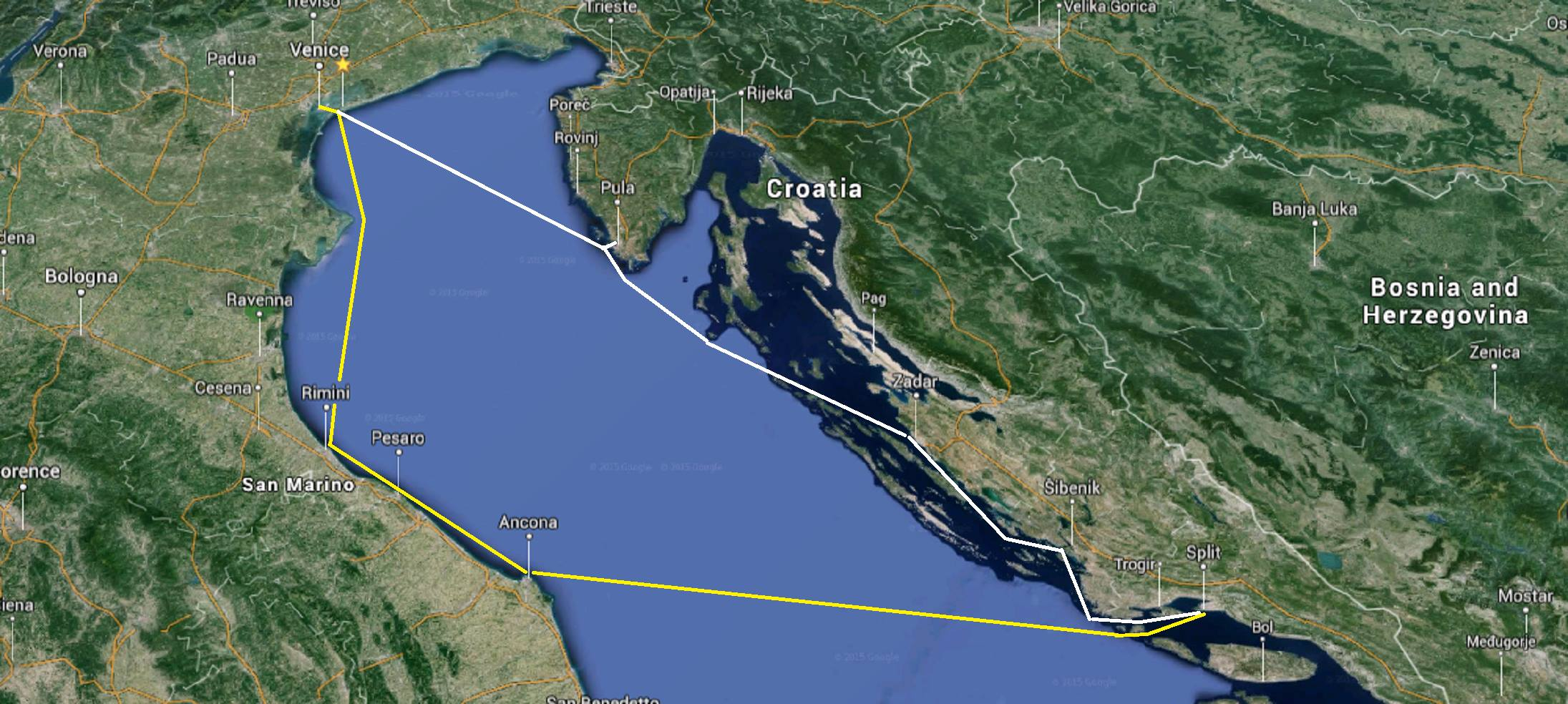 Sailing San Marino - Venice - Pula!